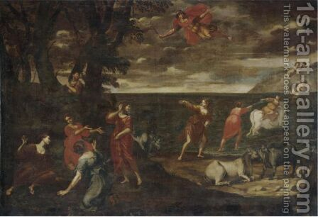 The Rape Of Europa by (after) Francesco Albani - Reproduction Oil Painting