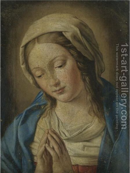 The Madonna At Prayer 5 by (after) Giovanni Battista Salvi, Il Sassoferato - Reproduction Oil Painting