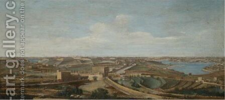 Malta, A View Of Birgu, Senglea And The Santa Margherita Lines Taken From The Cottonera Gate Leading To The Salvador by (after) To Alberto Pullicino - Reproduction Oil Painting