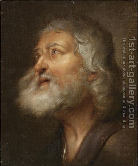 A Study For The Head Of A Saint by (after) Dyck, Sir Anthony van - Reproduction Oil Painting