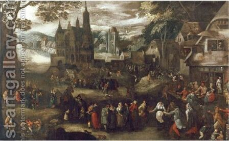 A Village Kermesse by (after) David Vinckboons - Reproduction Oil Painting