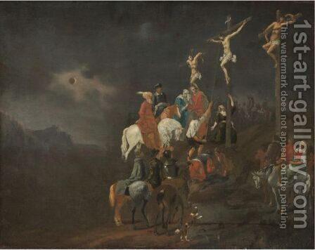 The Crucifixion by Dutch School - Reproduction Oil Painting