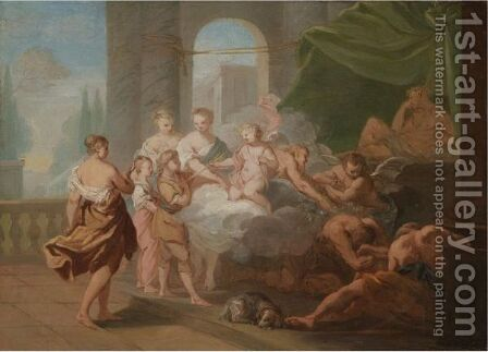 An Allegorical Scene With Cupid by (after) Gaetano Gandolfi - Reproduction Oil Painting