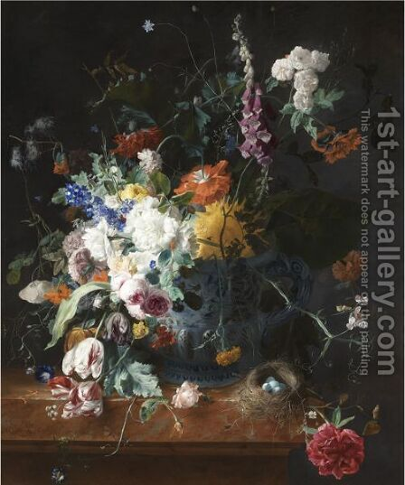 Floral Still Life by Arthur Chaplin - Reproduction Oil Painting