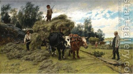 The Harvest by Jacob Silven - Reproduction Oil Painting