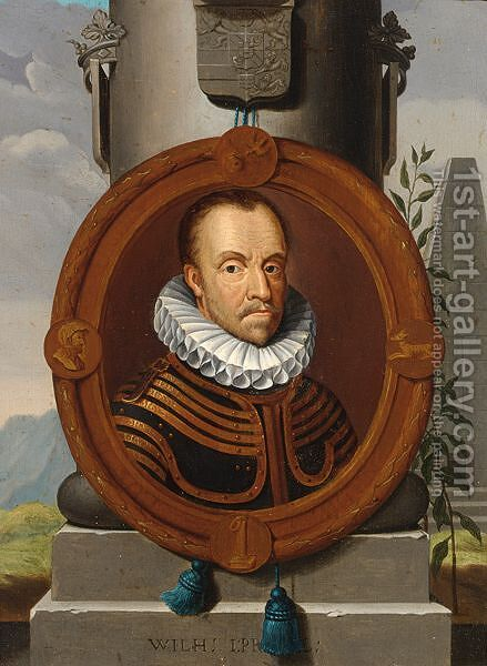 A Portrait Of William I Prince Of Orange (1533-1584) by (after) Adriaen Van Der Werff - Reproduction Oil Painting