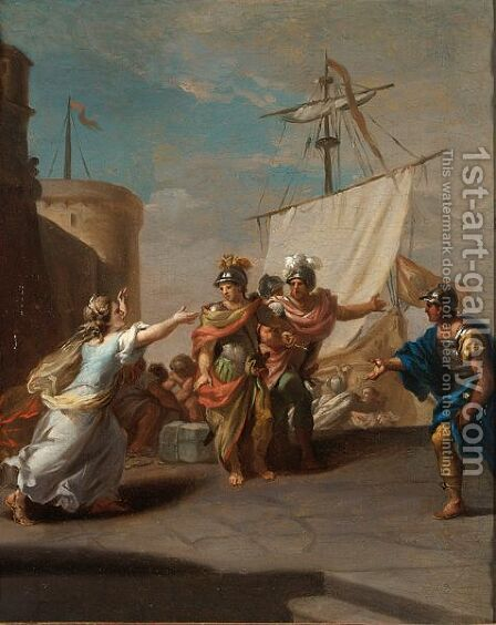The Flight Of Medea With The Argonauts by (after) Johann Heinrich Schonfeld - Reproduction Oil Painting