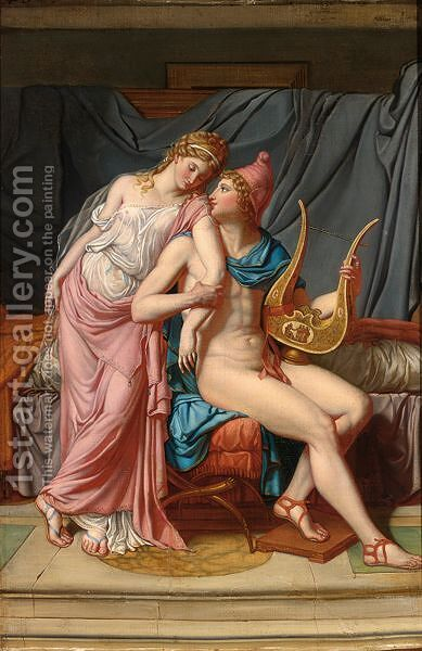 Paris And Helena Courting by (after) David, Jacques Louis - Reproduction Oil Painting