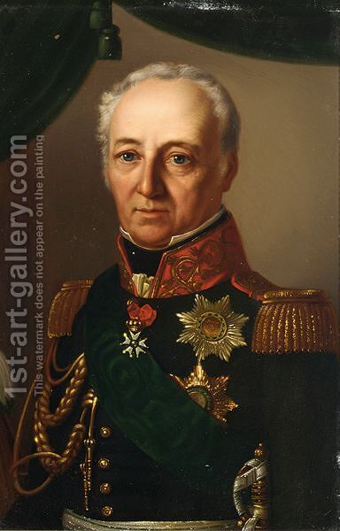 Portrait Of King Johann Of Saxony (1801-1873) by (after) Ferdinand Von Rayski - Reproduction Oil Painting