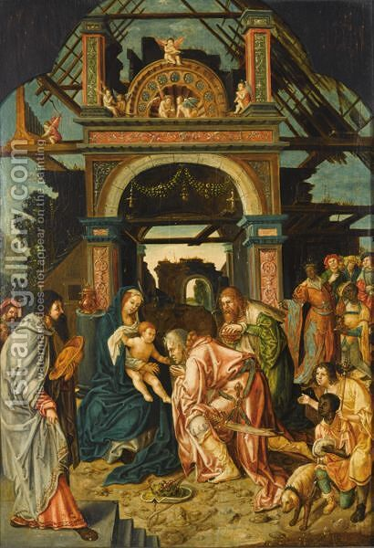 The Adoration Of The Magi by (after) Jacob Cornelisz Van Oostsanen - Reproduction Oil Painting