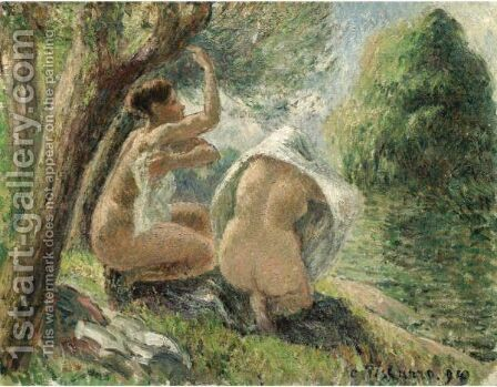 Baigneuses 2 by Camille Pissarro - Reproduction Oil Painting