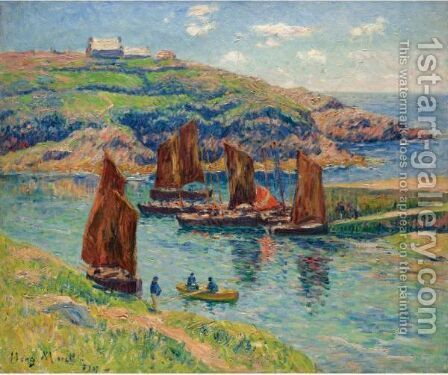 Basse Mer, Cote De Bretagne by Henri Moret - Reproduction Oil Painting