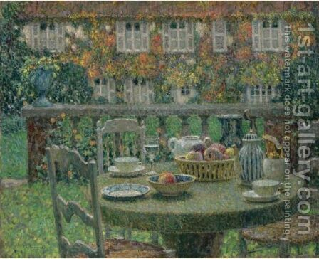 La Table D'Automne by Henri Eugene Augustin Le Sidaner - Reproduction Oil Painting