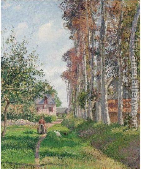 Le Verger Du Manoir D'Ango, Varengeville, Matin by Camille Pissarro - Reproduction Oil Painting