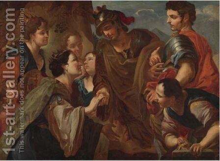Alexander The Great And The Family Of Darius by Antonio Molinari - Reproduction Oil Painting