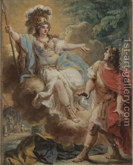 Venus And Aeneas by (after) Gaetano Gandolfi - Reproduction Oil Painting