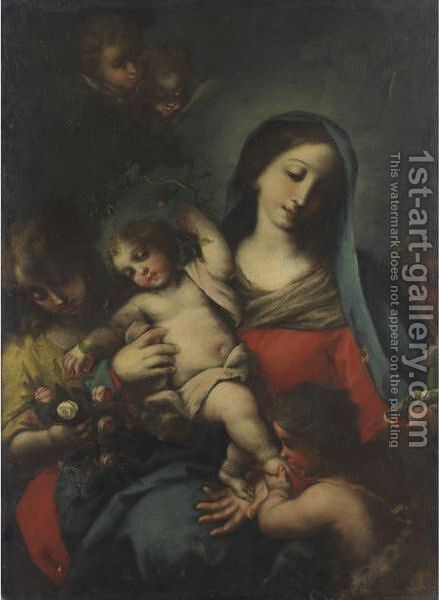 Madonna And Child 3 by Italian School - Reproduction Oil Painting
