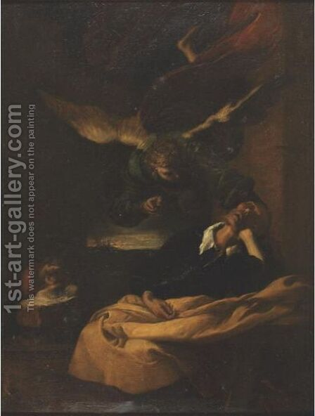 Joseph's Dream by (after) Francesco Del Cairo - Reproduction Oil Painting