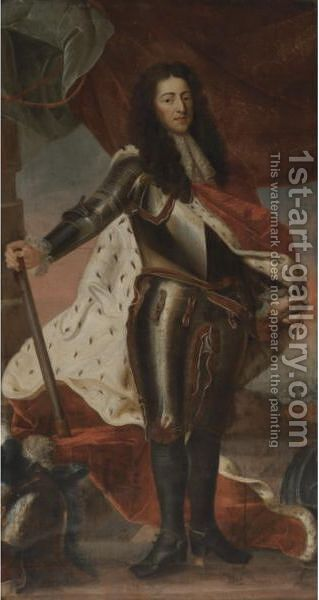 Portrait Of King William III Of England by Continental School - Reproduction Oil Painting