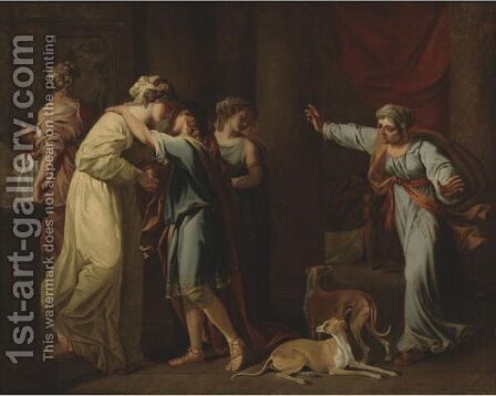The Return Of Telemachus by (after) Kauffmann, Angelica - Reproduction Oil Painting
