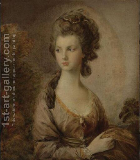 Portrait Of The Hon. Mrs. Thomas Graham by (after) Gainsborough, Thomas - Reproduction Oil Painting
