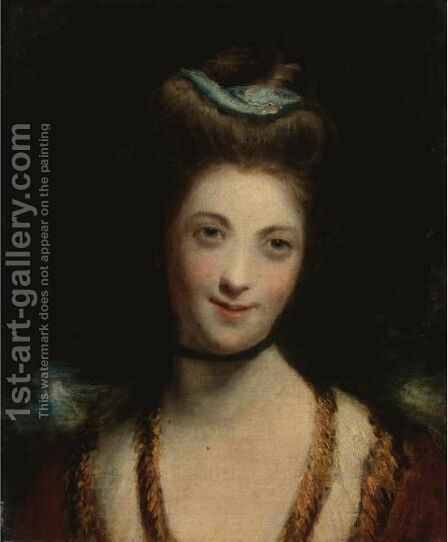 Portrait Of Miss Ridge by (after) Sir Joshua Reynolds - Reproduction Oil Painting
