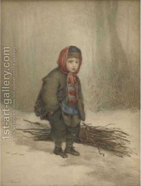 The Young Woodsman by Edouard Frère - Reproduction Oil Painting