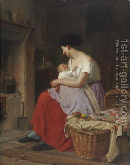Motherly Cares by Haynes King - Reproduction Oil Painting