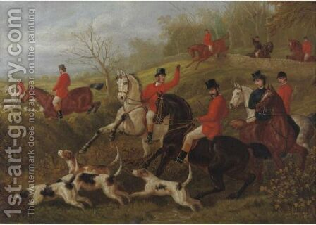 The Fox Hunt by Edward Benjamin Herberte - Reproduction Oil Painting