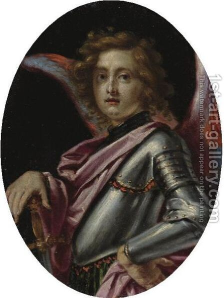 The Archangel Michael by Cesare Dandini - Reproduction Oil Painting