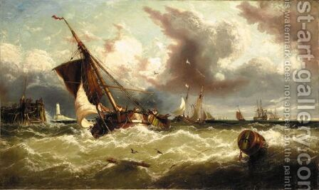 Returning To Port by (after) William Calcott Knell - Reproduction Oil Painting
