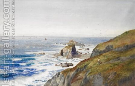 Land's End, Longship Lighthouse by Arthur Stanley Wilkinson - Reproduction Oil Painting