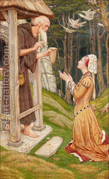 The Well Beyond The Wood by Charles March Gere - Reproduction Oil Painting