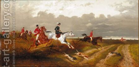The Chase by Alexander Ritter Von Bensa - Reproduction Oil Painting