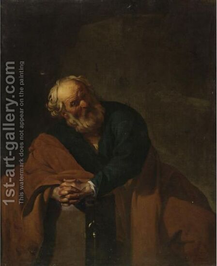 The Penitent Saint Peter by Dirck Van Baburen - Reproduction Oil Painting