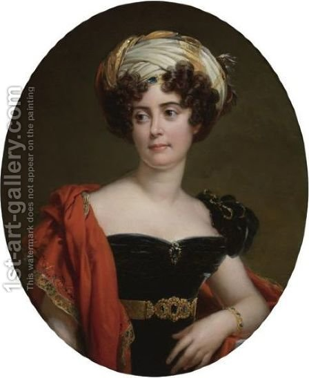 Portrait Of Blanche-Josephine Le Bascle D'Argenteuil, Duchesse De Maille (1787-1851) by Baron Francois Gerard - Reproduction Oil Painting