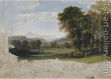 Landscape In The Roman Campagna by (after) Nicolas-Didier Boguet - Reproduction Oil Painting