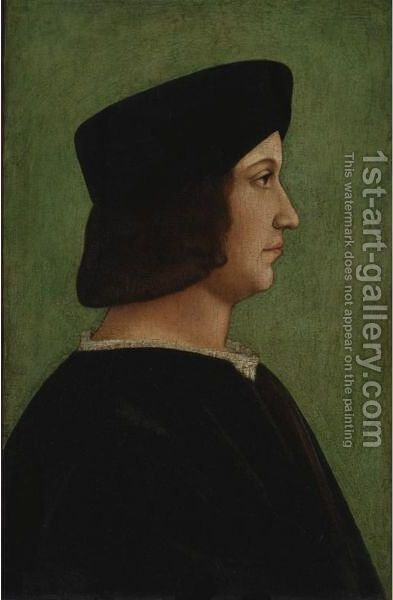 Portrait Of A Man by (after) Bernardino De' Conti - Reproduction Oil Painting