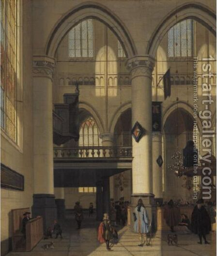 Interior Of The Oude Kerk, Amsterdam by Hendrik Van Streek - Reproduction Oil Painting