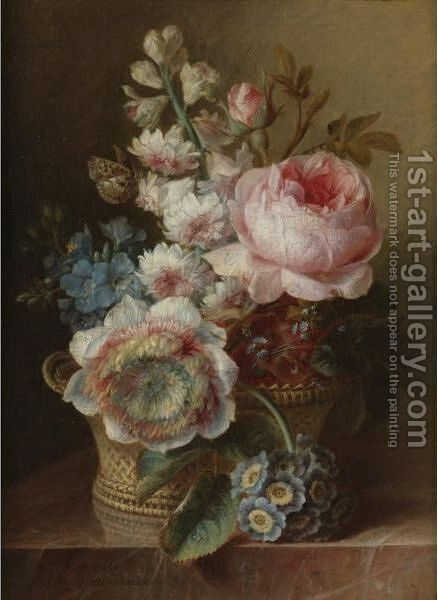 Still Life With Flowers by Cornelis van Spaendonck - Reproduction Oil Painting