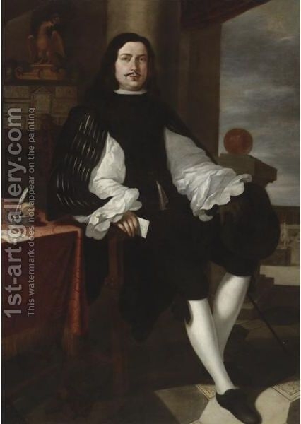 Portrait Of Giovanni Battista Priaroggia by (after) Murillo, Bartolome Esteban - Reproduction Oil Painting