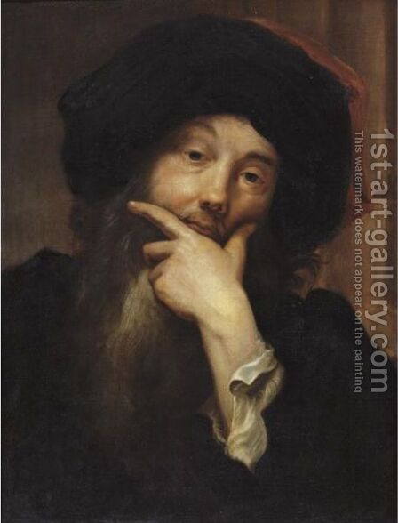 Self-Portrait by Anthoon Schoonjans - Reproduction Oil Painting