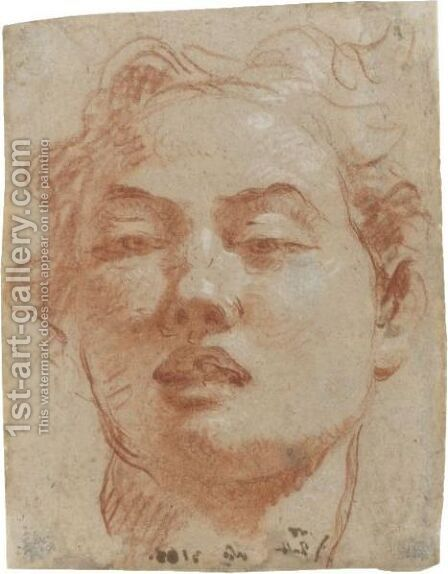 Head Of A Young Man by Giovanni Battista Tiepolo - Reproduction Oil Painting