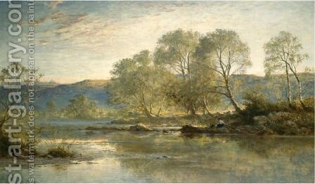 Sunny Evening, North Wales by Benjamin Williams Leader - Reproduction Oil Painting