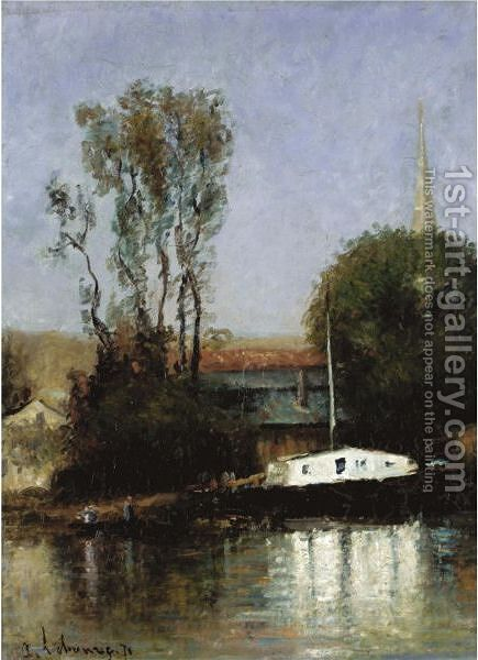 Un Bateau Sur La Seine by Albert Lebourg - Reproduction Oil Painting