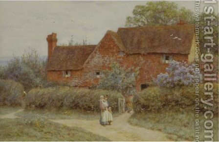 The Dairy Farm, Edenbridge by Helen Mary Elizabeth Allingham, R.W.S. - Reproduction Oil Painting
