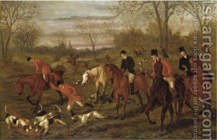 Hunting Scene by Edward Benjamin Herberte - Reproduction Oil Painting