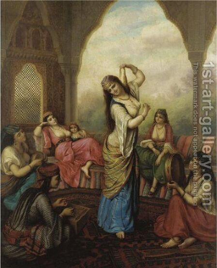 The Hareem Dancer by Alexander Sandor Svoboda - Reproduction Oil Painting