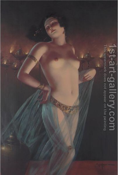 Belly Dancer by Eduard Ansen Hoffmann - Reproduction Oil Painting