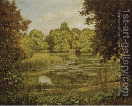 The Quiet Lake by Henri Biva - Reproduction Oil Painting